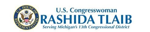 Press Release Banner - United States Congresswoman Rashida Tlaib  - Serving Michgan's 13th Congressional District